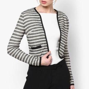 Miss Selfridge Boucle Cropped Open Blazer Jacket 2